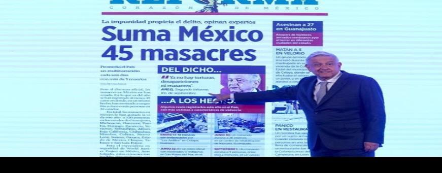 """AMLO y el crimen, """"amenazas contra libertad de prensa en México"""""""