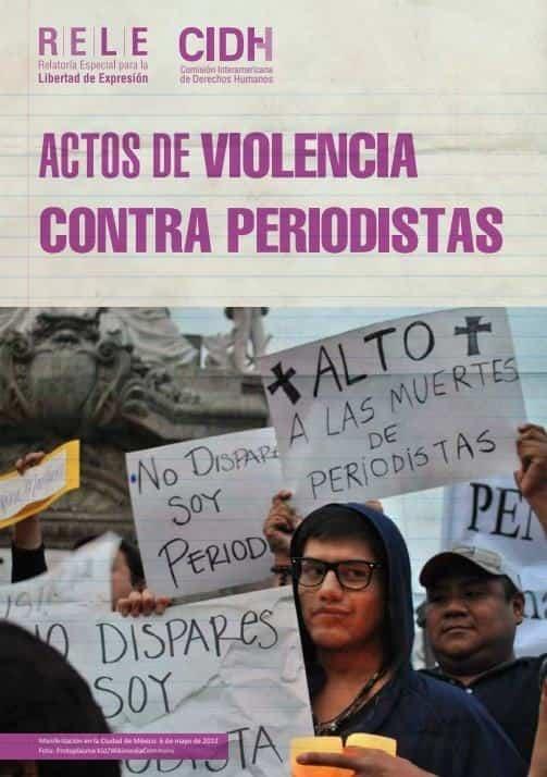 Actos de violencia contra periodistas